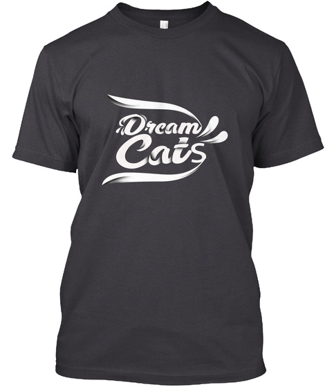 """Dreamcats """"Clothing"""" Charcoal Black T-Shirt Front"""