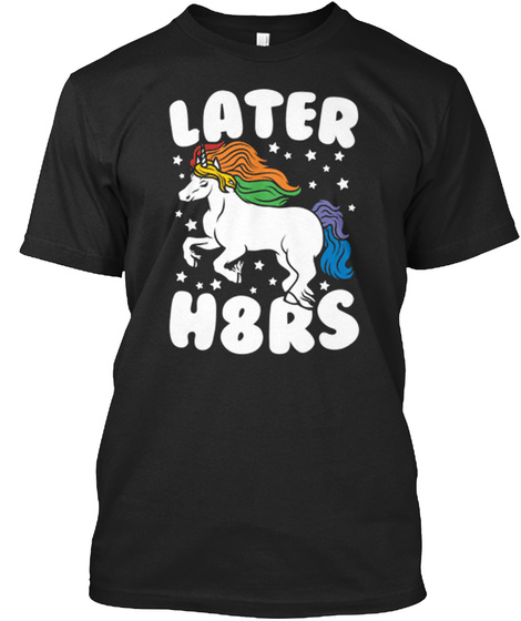 Later H8 Rs Black T-Shirt Front