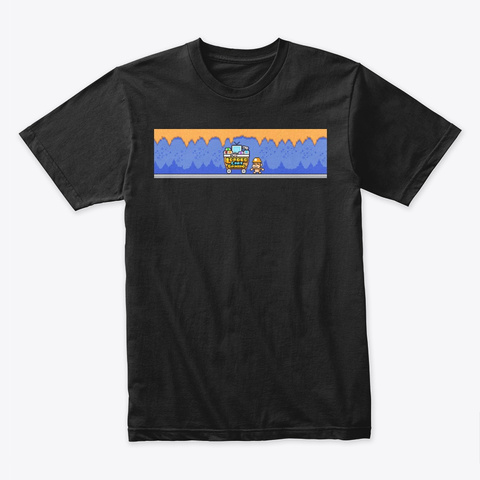 Loaded Cart Gaming   Centered Black T-Shirt Front