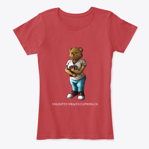 Ms.Bear Market  Classic Red T-Shirt Front