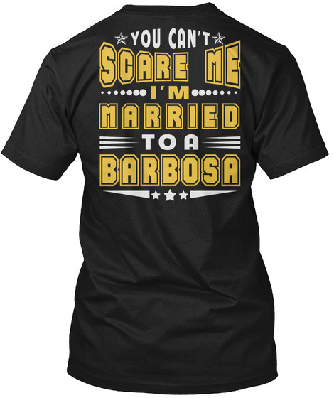 Married To Barbosa Thing Shirts Black T-Shirt Back