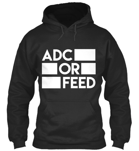 Adc Or Feed Jet Black T-Shirt Front