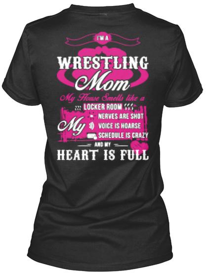 Wrestling Mom T Shirt Black Women's T-Shirt Back