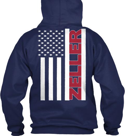 Zeller Navy T-Shirt Back