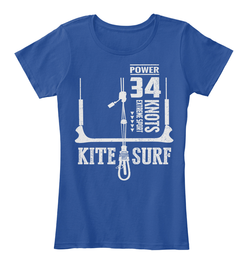Power 34 Knots Kitesurf Tees Extreme Sport Kite Surf Standard Unisex T-shirt
