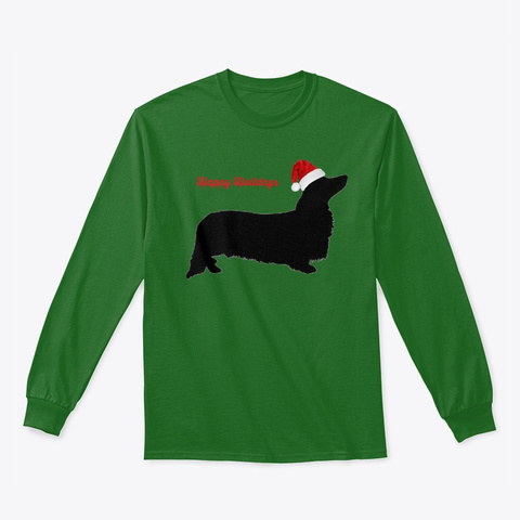 Gdr's Happy Holidays  2018 Ii Irish Green Long Sleeve T-Shirt Front