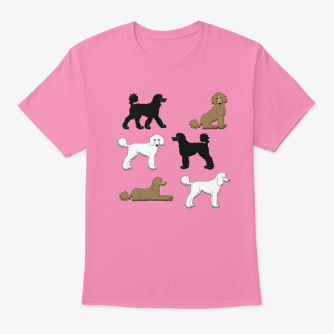 Funny Poodle Art  Shirt Pink T-Shirt Front