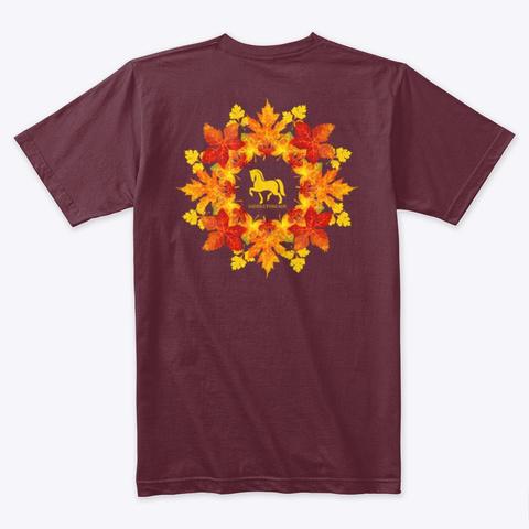Fall Collection   Leaf Mandala Maroon T-Shirt Back
