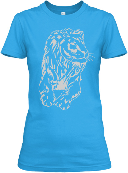 Lions Pride! Turquoise T-Shirt Front
