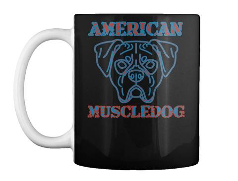 American  Muscledog Black T-Shirt Front