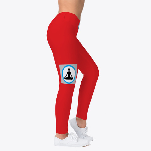 Yoga And Sports Leggings For Women Red T-Shirt Right