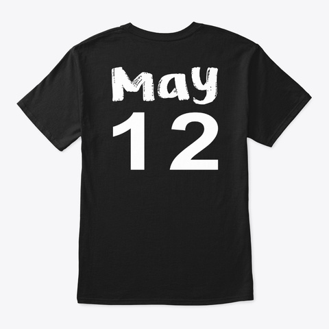 May 12   Taurus Black áo T-Shirt Back