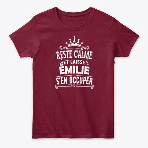 Reste Calme émilie S'en Occuper Cardinal Red T-Shirt Front