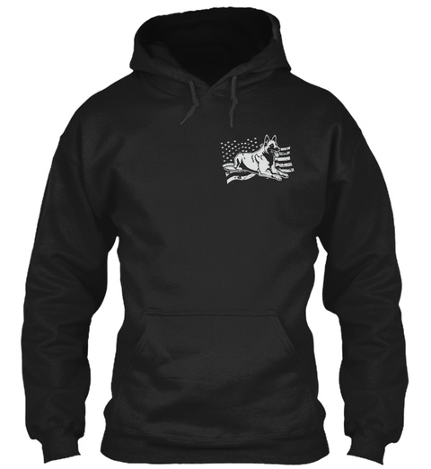 K9 Specific Set Of Skills   Malinois Black Sweatshirt Front