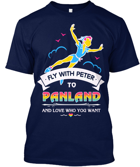 Panland Pansexual Pride  Limited Edition Navy T-Shirt Front