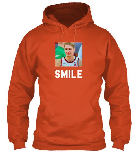 Smile Burnt Orange T-Shirt Front