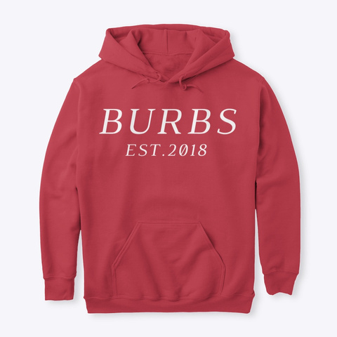 Classic Burbs Hoodie   All Colors Cardinal Red Kaos Front