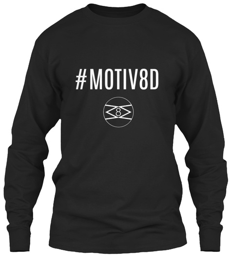 #Motiv8 D Black Long Sleeve T-Shirt Front