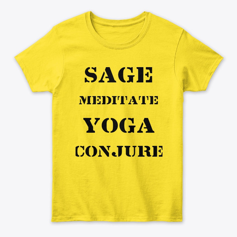 Sage Meditate Yoga Conjure Daisy T-Shirt Front