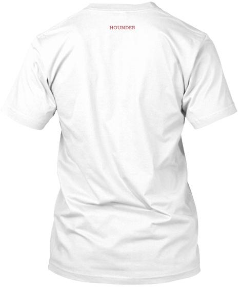Hounder White Camiseta Back