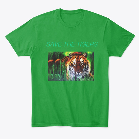 Sellers Tigers T Shirts,  Kelly Green T-Shirt Front