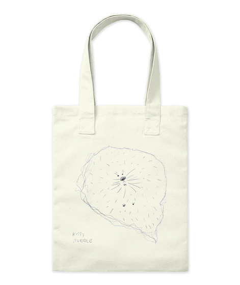 Kitty Puddle Natural Tote Bag Front