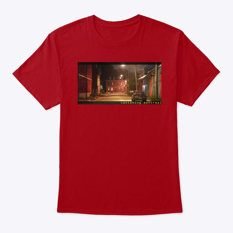 Vanishing Montreal Deep Red Camiseta Front