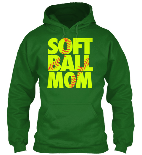 Soft Ball Mom Irish Green T-Shirt Front