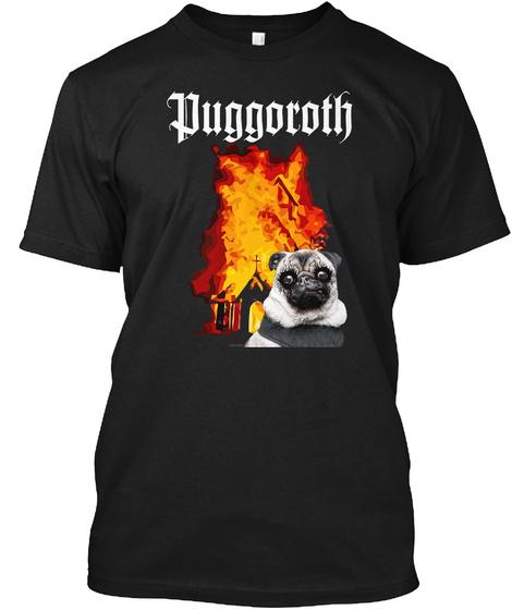 Puggoroth Black T-Shirt Front