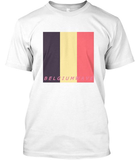 Belgium Wave White T-Shirt Front