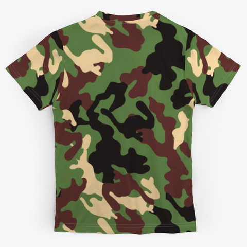 Grill Master Simple Camouflage Pattern Standard T-Shirt Back