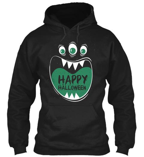 Halloween Ghosts T Shirt, Mug, Sticker Black Sweatshirt Front
