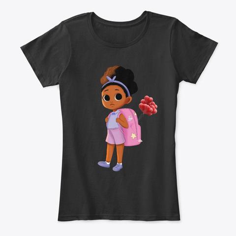 Black Children Back To School Time Cute Black T-Shirt Front