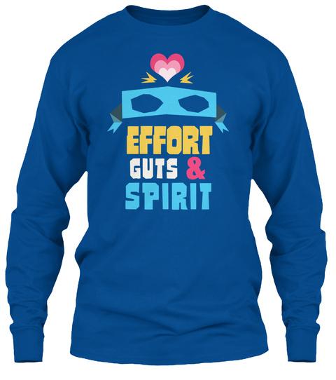Effort Guts&Spirit Royal T-Shirt Front