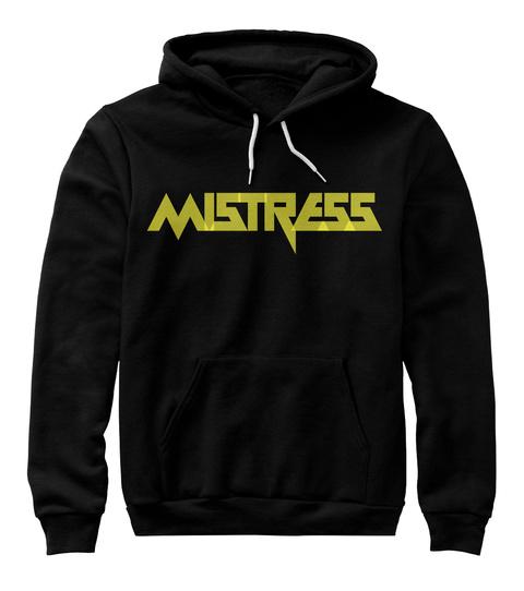 Mistress Hoddie Yellow Black Sweatshirt Front