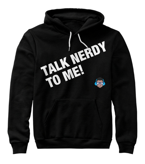 Talk Nerdy To Me Black T-Shirt Front