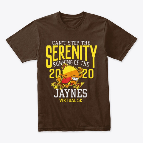 """Running Of The Jaynes"" Unisex Dark Chocolate T-Shirt Front"