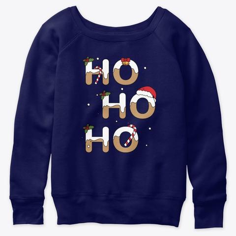 Ho Ho Ho Santa Is Here  Navy  T-Shirt Front