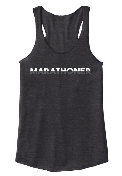 Half Marathoner Tee Eco Black Women's Tank Top Front