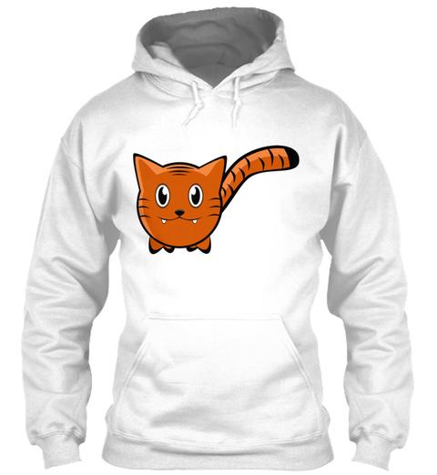 Tiger Animal Cartoon White T-Shirt Front