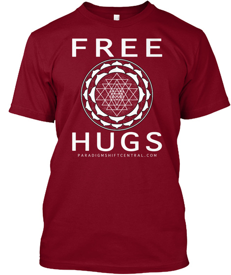 Free Hugs Cranberry T-Shirt Front