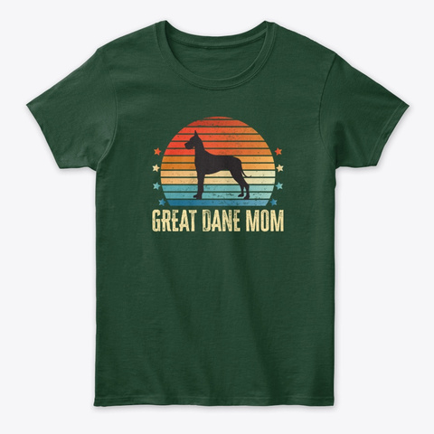 Great Dane Dog Mom Forest Green T-Shirt Front