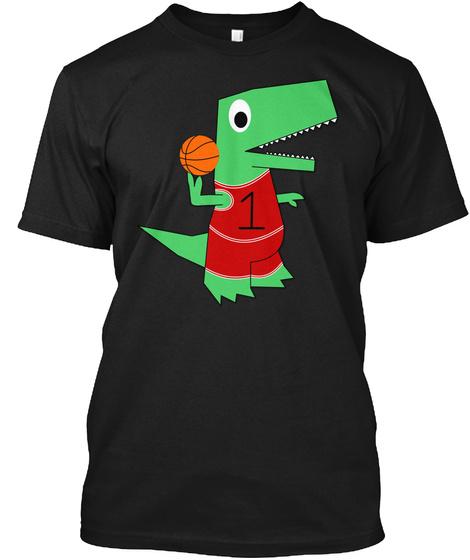 Dinosaur Baller Black T-Shirt Front