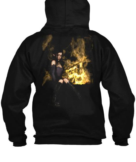 Descent Elf Girl Black Sweatshirt Back