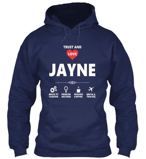 Jayne Navy T-Shirt Front