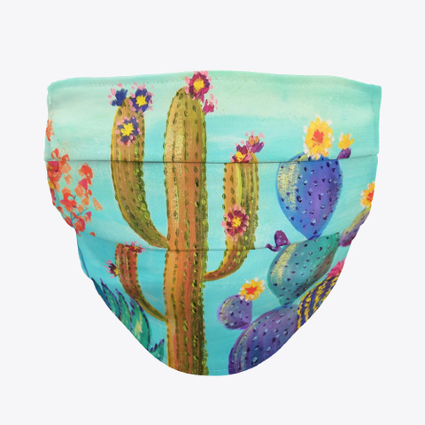 Colorful Cactus Mask Standard T-Shirt Front