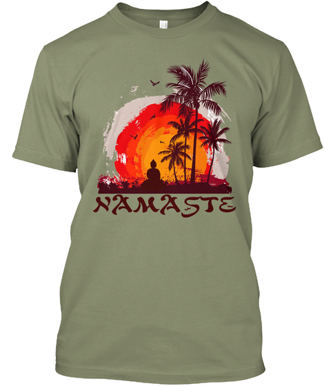 Namaste Light Olive T-Shirt Front