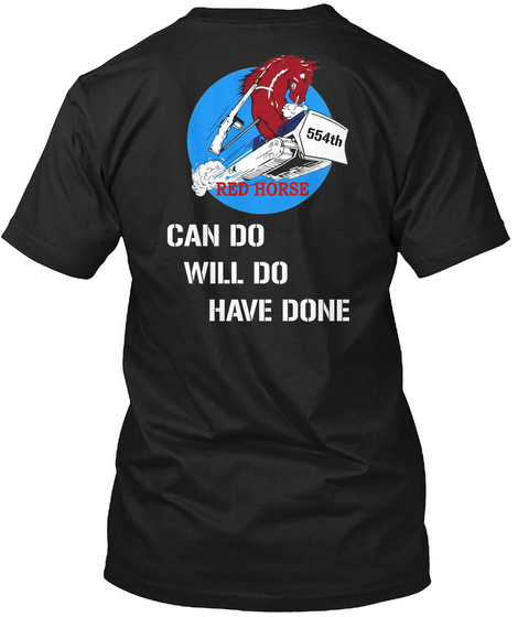 554th Can Do Will Do Have Done T-Shirt Back