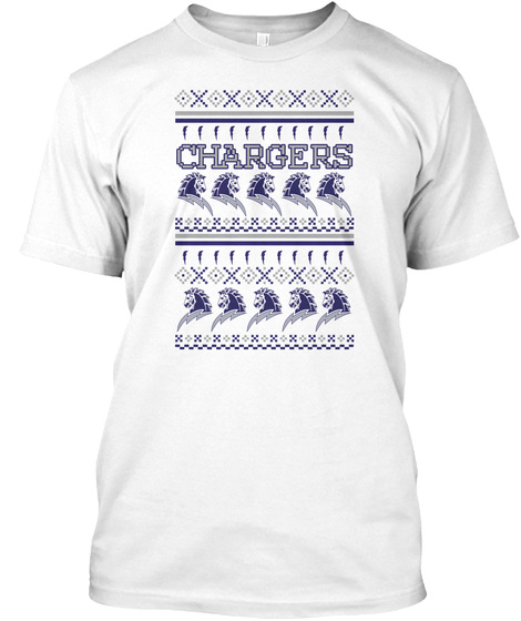 Chargers White T-Shirt Front