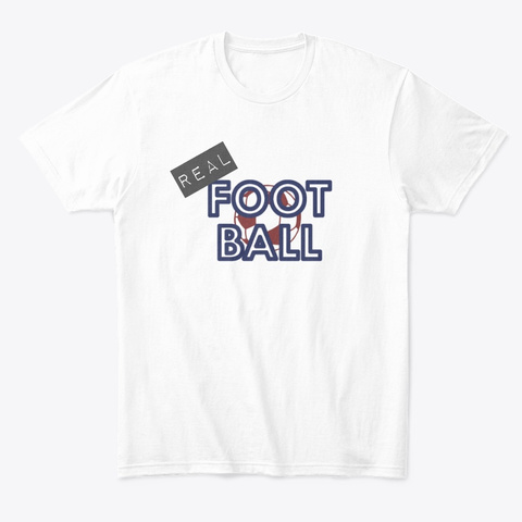Real Football White T-Shirt Front